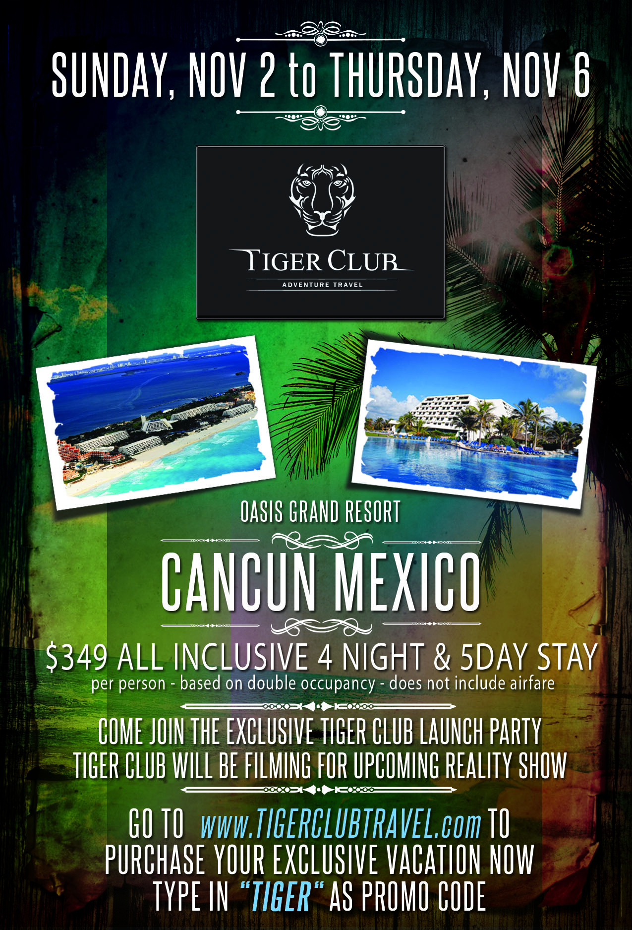 Tiger Club Party CanCun Nov 2014